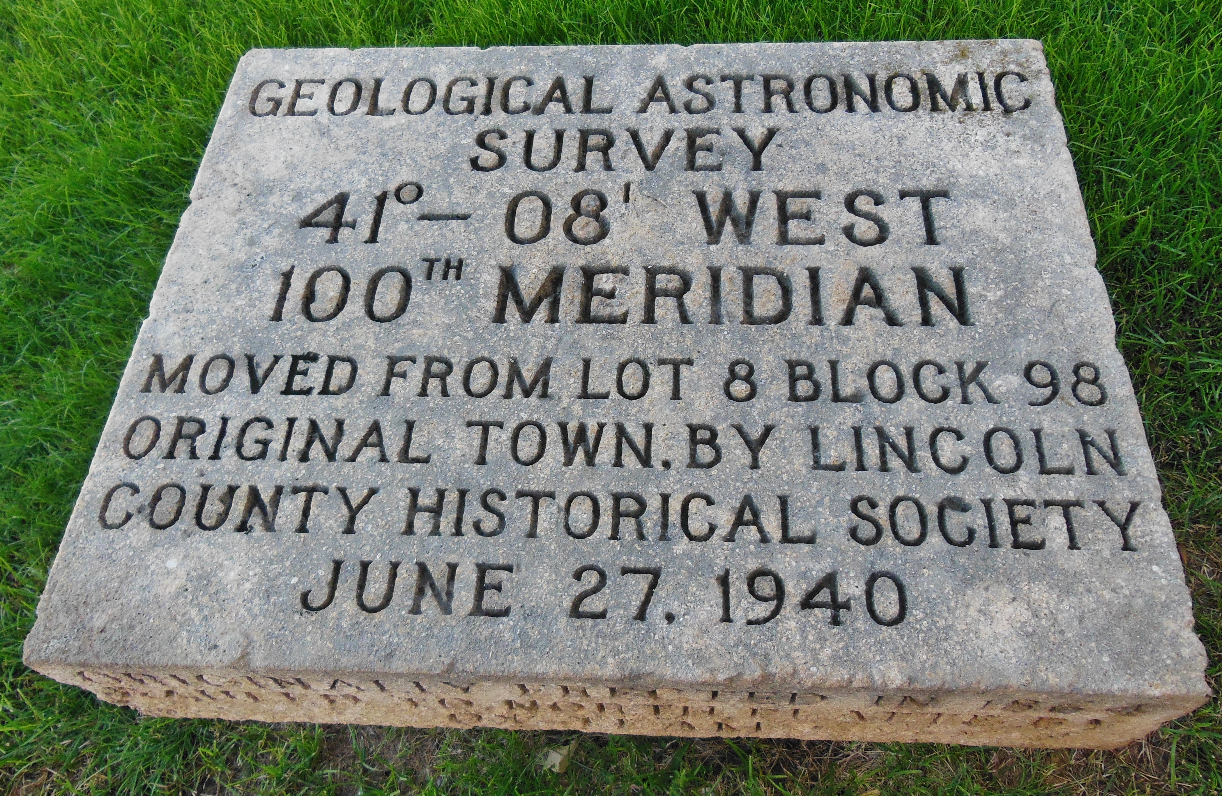 100th Meridian Marker