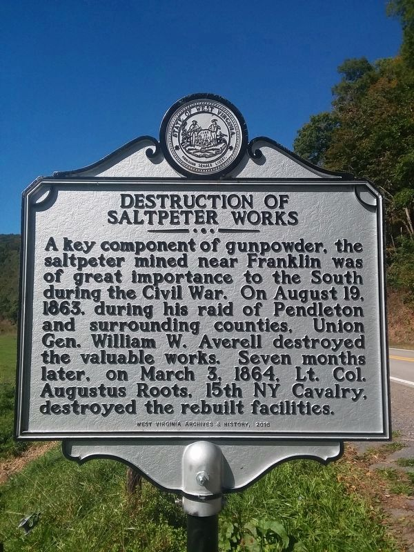 Destruction of Saltpeter Works Marker image. Click for full size.