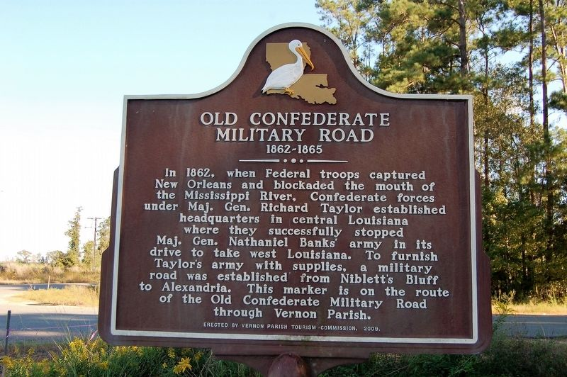 Old Confederate Military Road Marker image. Click for full size.
