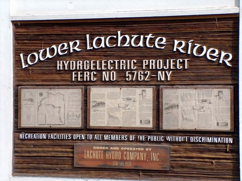 La Chute River Hydro Company Sign (<i>located near falls</i>) image. Click for full size.