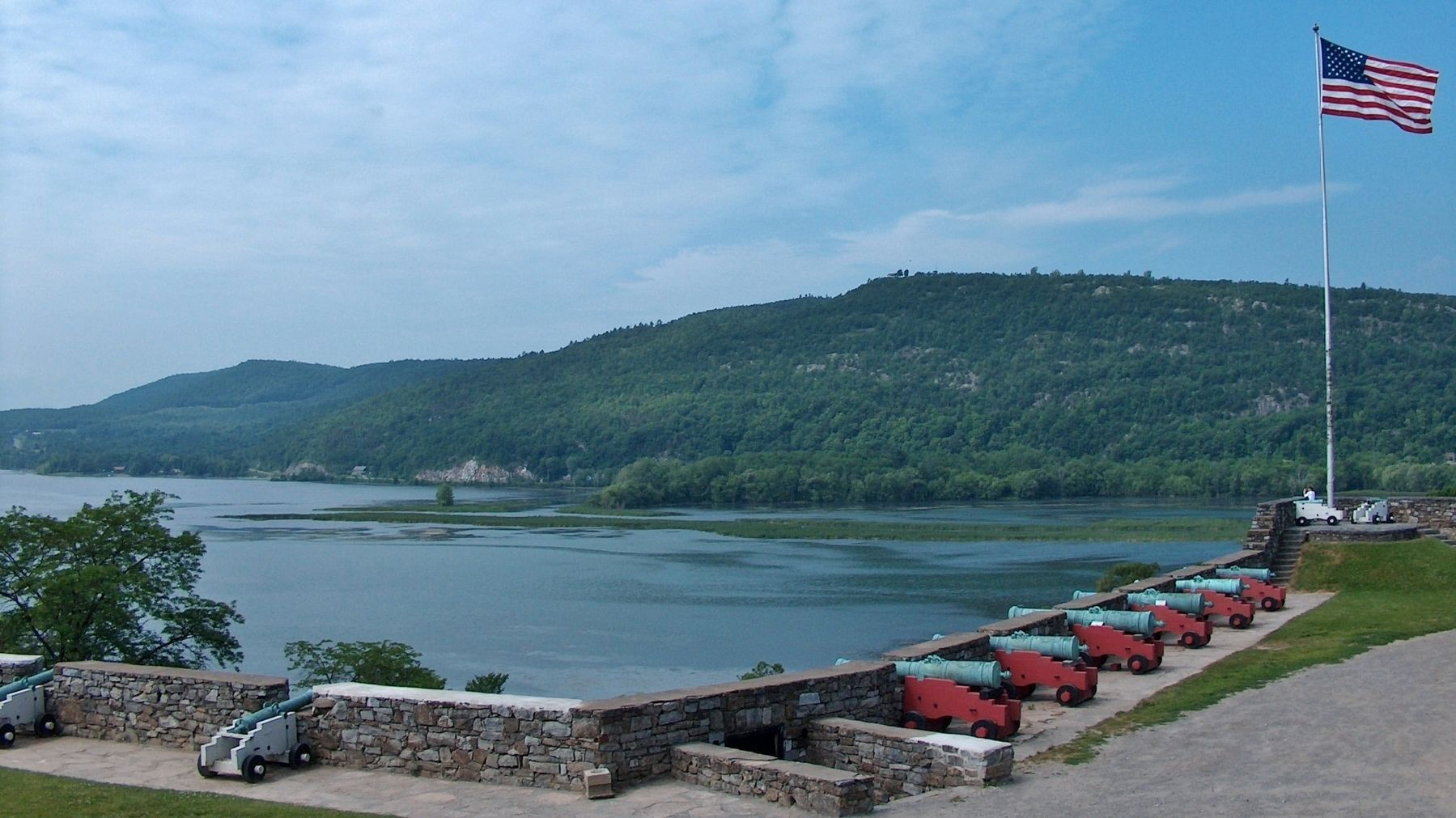 La Chute River / Lake Champlain (<i>view from Fort Ticonderoga</i>) image. Click for full size.