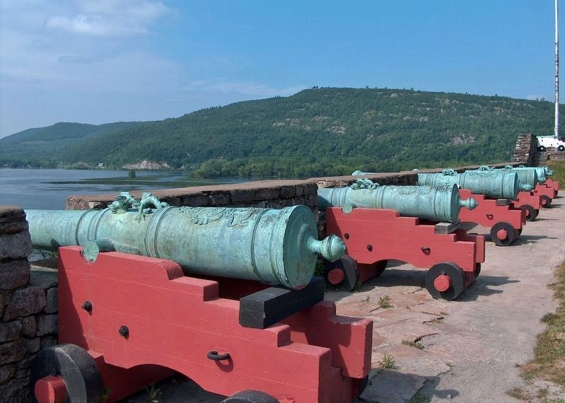 Cannons, La Chute River / Lake Champlain (<i>view from Fort Ticonderoga</i>) image. Click for full size.