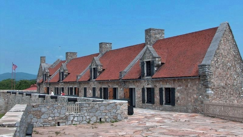 Fort Ticonderoga Officers&#39; Barracks (<i>view from near marker</i>) image. Click for full size.