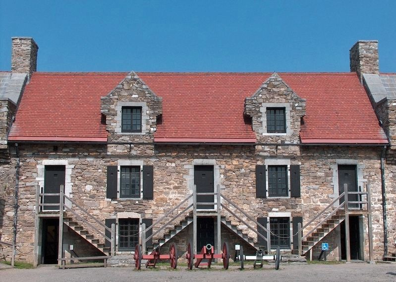 Fort Ticonderoga Soldiers' Barracks image. Click for full size.