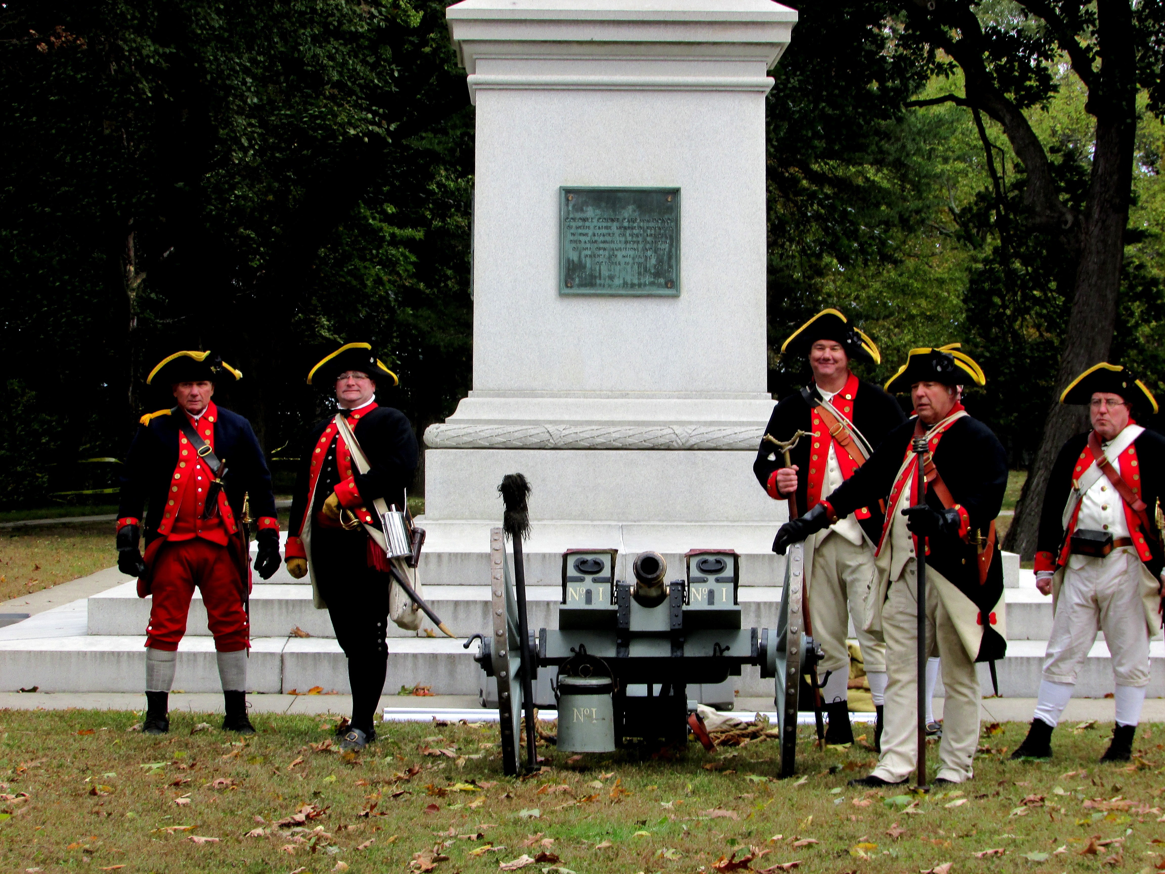 West Jersey Artillery at the Col. Christopher Greene Monument