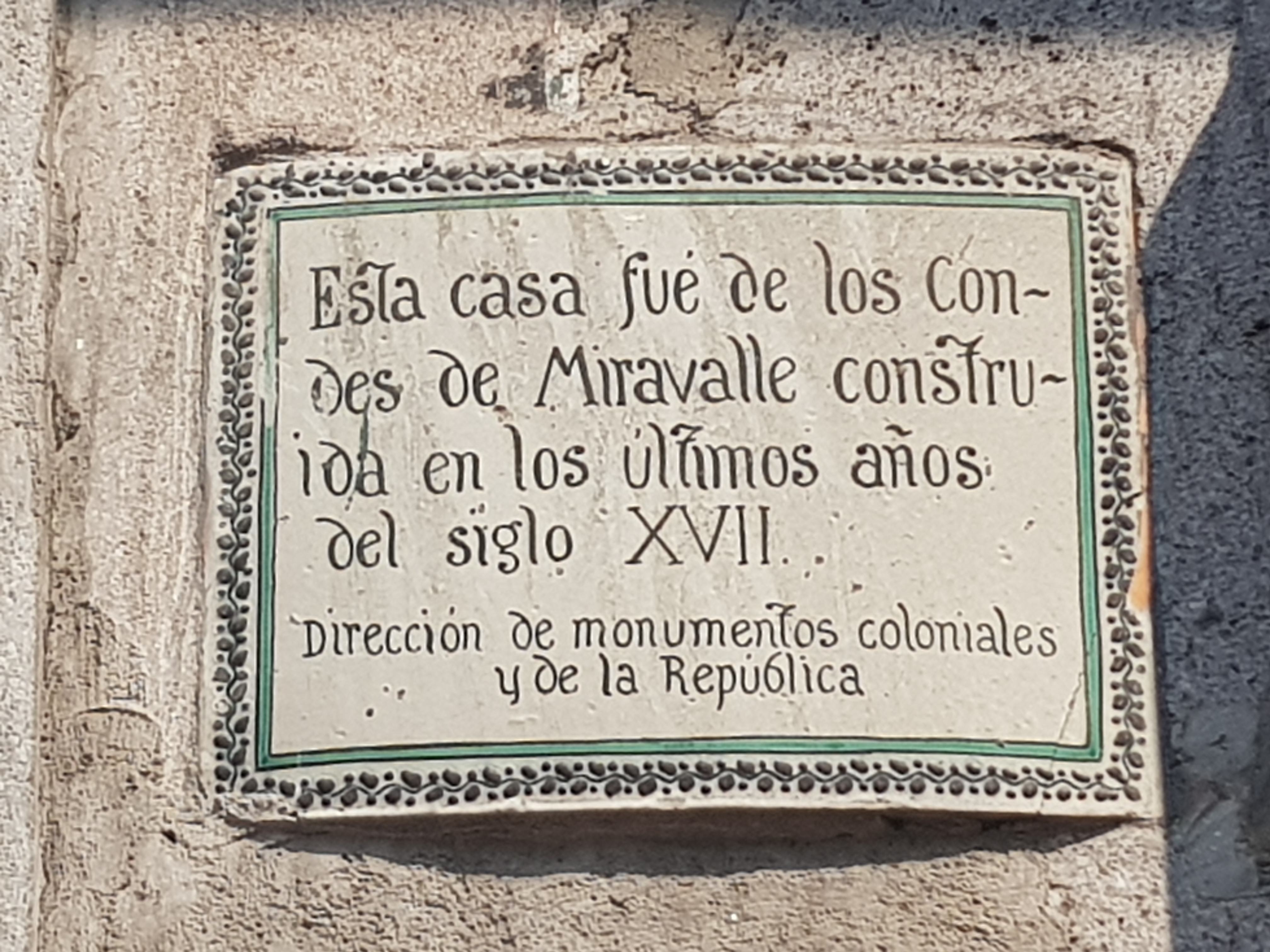 House of the Condes de Miravalle Marker