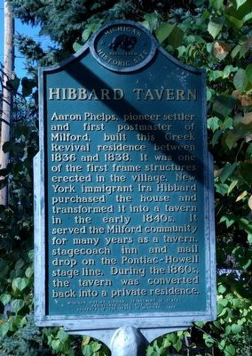 Hibbard Tavern Marker image. Click for full size.