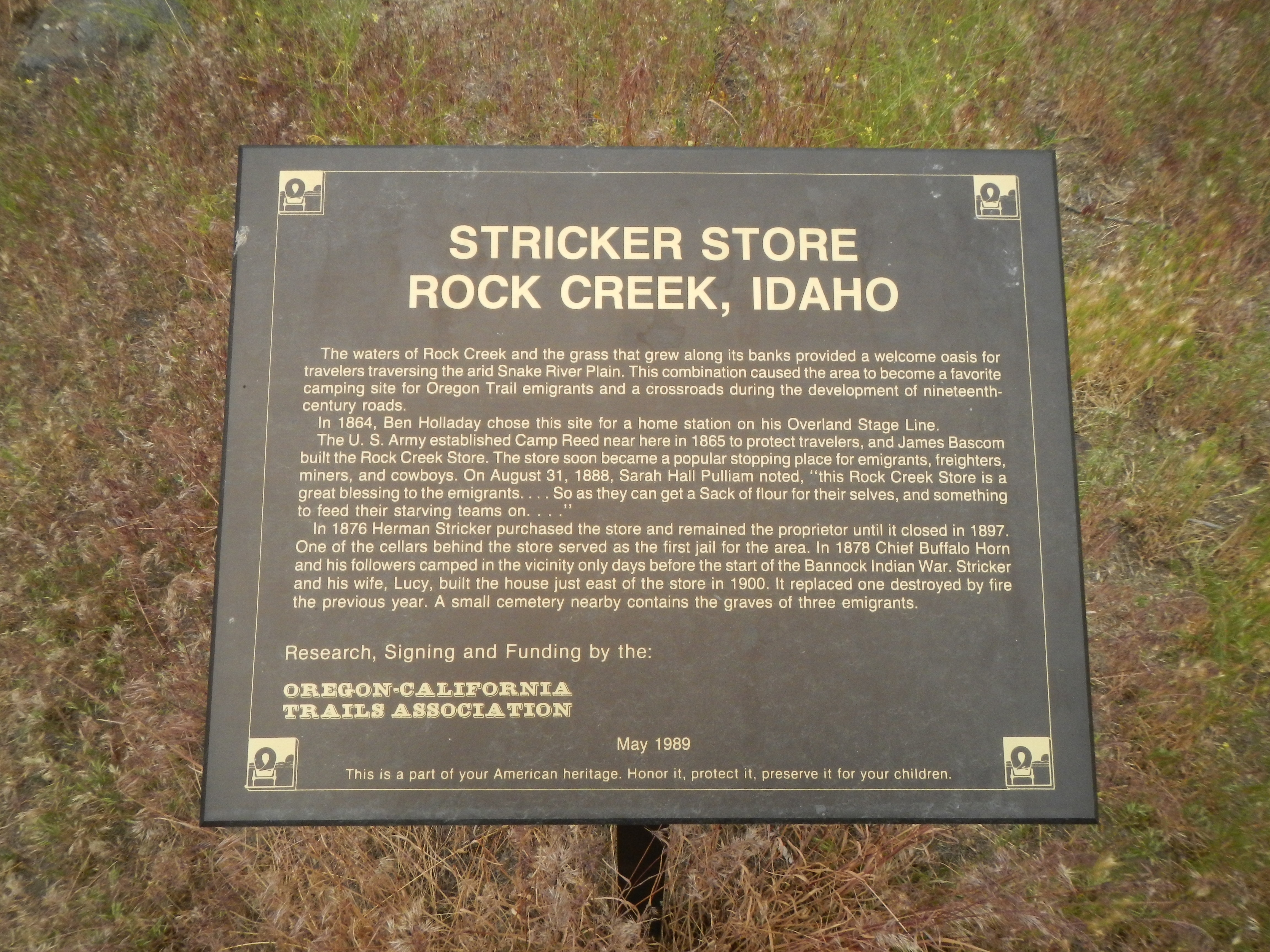 Stricker Store Marker