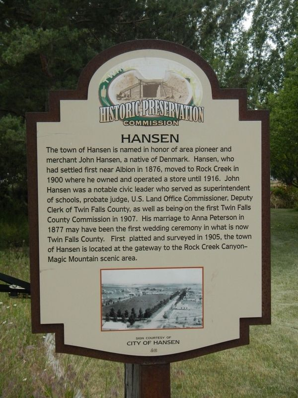 Hansen Marker image. Click for full size.