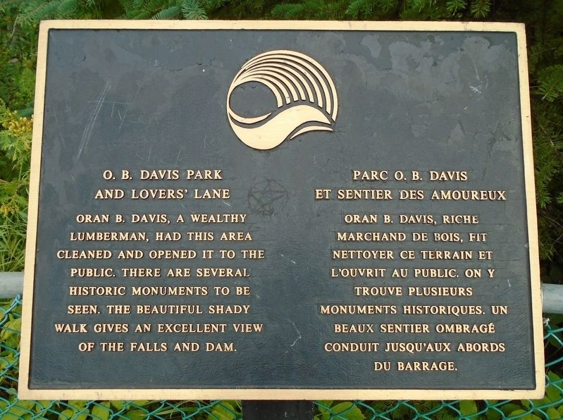 O. B. Davis Park and Lovers' Lane Marker image. Click for full size.