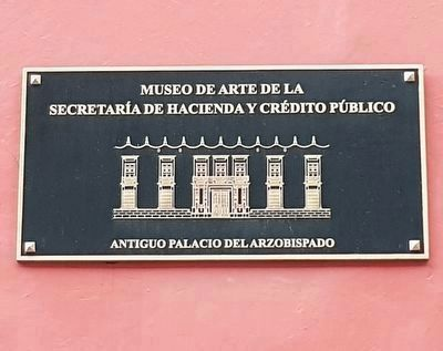 A marker for the art museum on the Ex-Palace of the Archbishop image. Click for full size.