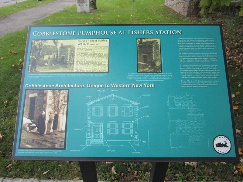 Cobblestone Pumphouse at Fishers Station Marker image. Click for full size.