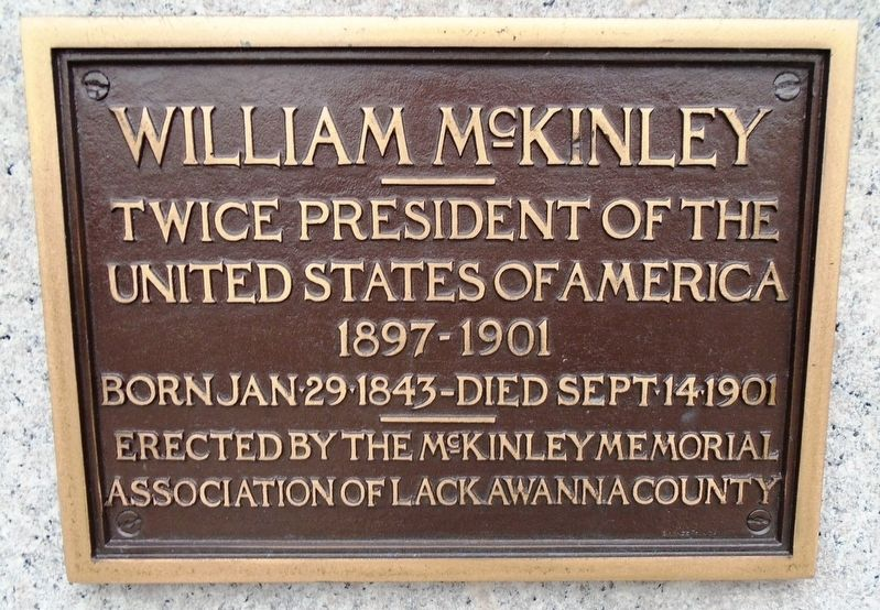 William M<sup><u>c</u></sup>Kinley Marker image. Click for full size.