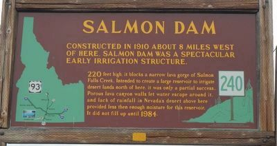 Salmon Dam Marker image. Click for full size.