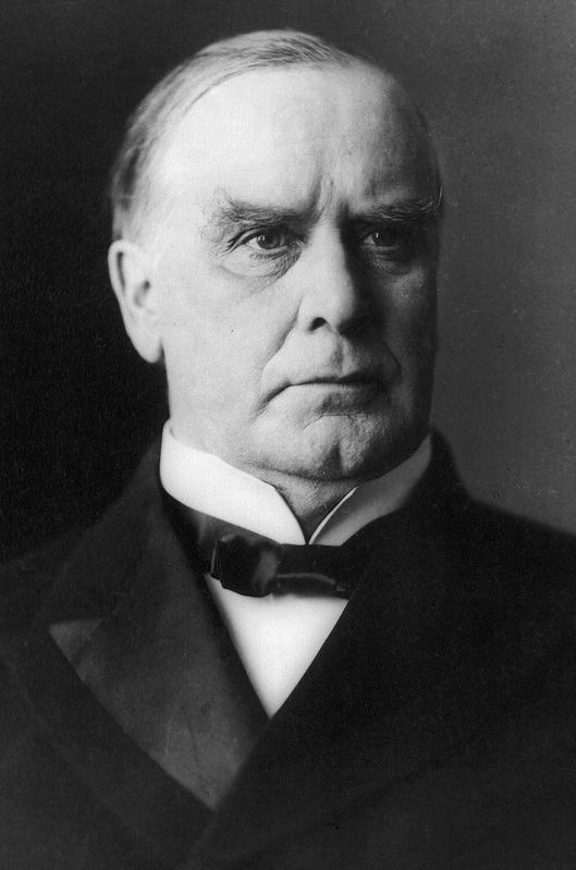 President William McKinley<br>May 4, 1900. image. Click for full size.