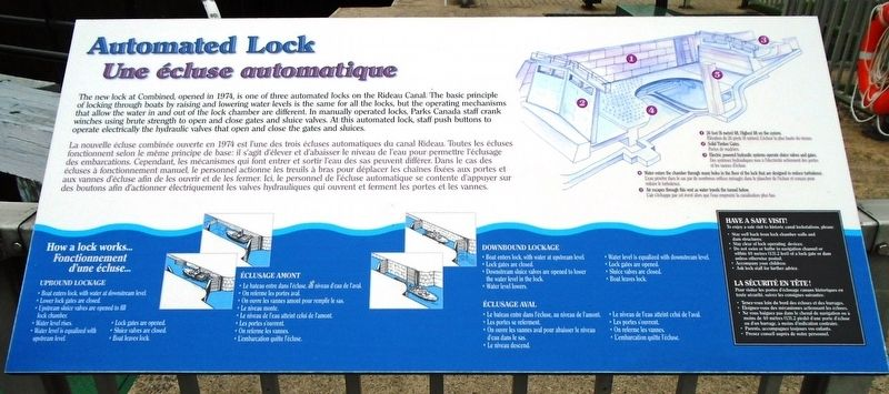 Automated Lock / Une écluse automatique Marker image. Click for full size.