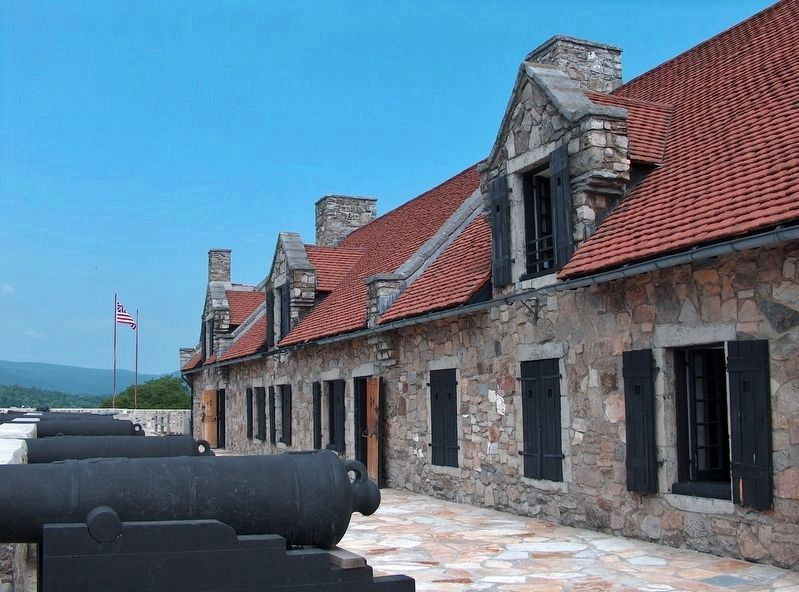 Fort Ticonderoga Officers' Barracks image. Click for full size.