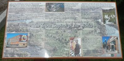 The Trout Capital of the World Marker image. Click for full size.