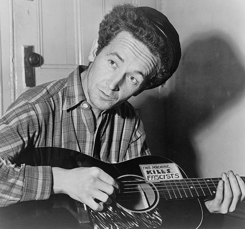 Woody Guthrie image. Click for full size.