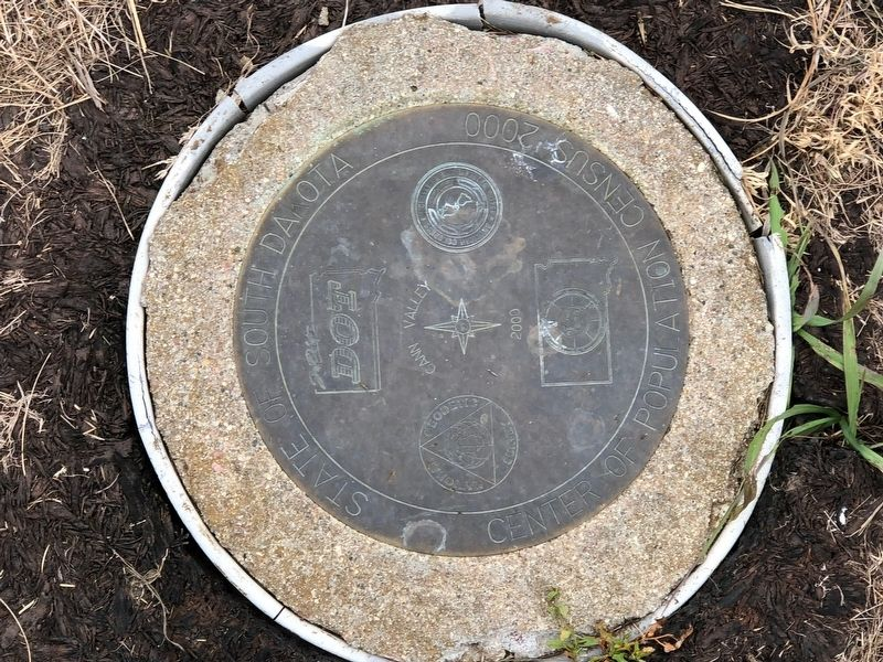 Center of Population Geodetic Marker image. Click for full size.