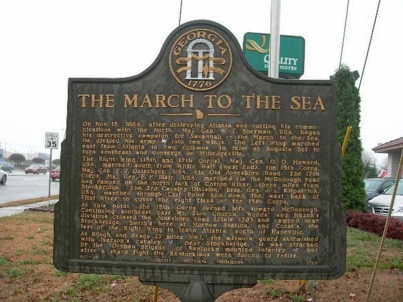 The March to the Sea Marker - as it was image. Click for full size.