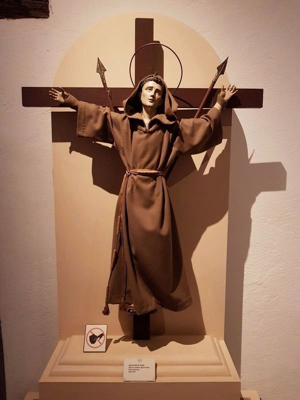 Saint Philip of Jesus at the Museum of the Viceroyalty, Tepotzotlán, Mexico image. Click for full size.
