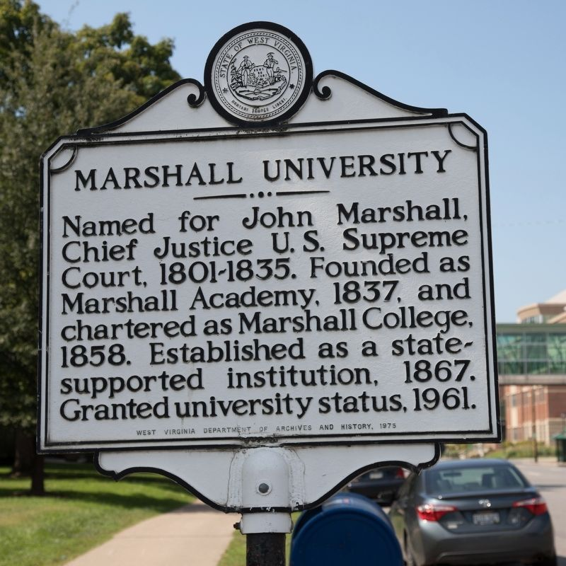 Marshall University Marker image. Click for full size.
