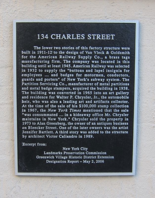 134 Charles Street Marker image. Click for full size.