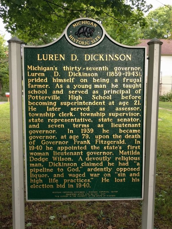 "Luren D. Dickinson / The ""Country Capitol"" Marker image. Click for full size."
