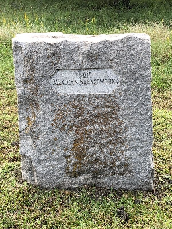 Mexican Breastworks Marker image. Click for full size.