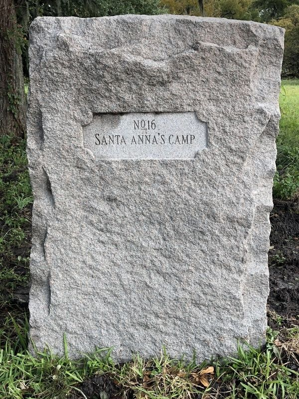 Santa Anna's Camp Marker image. Click for full size.