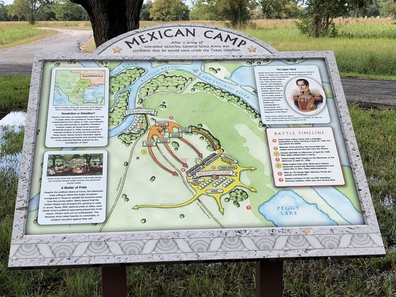 Nearby Interpretive Panel Discussing the Mexican Camp image. Click for full size.
