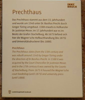 Prechthaus Marker image. Click for full size.
