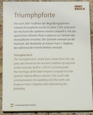 Triumphpforte Marker image. Click for full size.