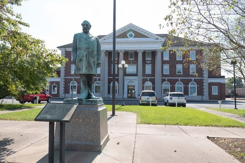 Statue of Collis P. Huntington at the former C&O Railroad Station image. Click for full size.