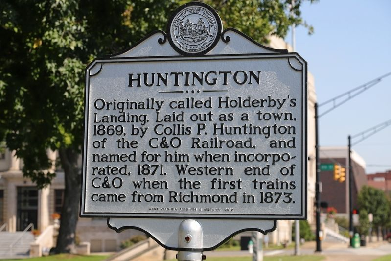 Huntington Marker image. Click for full size.