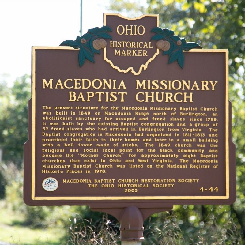 Macedonia Missionary Baptist Church Marker image. Click for full size.