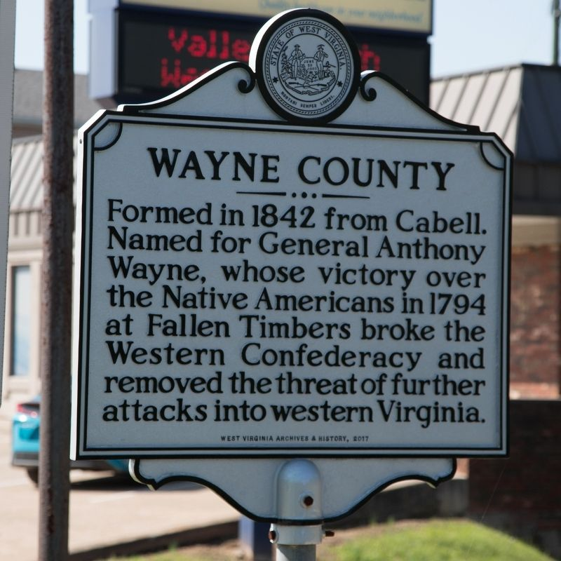 Wayne County side of marker image. Click for full size.