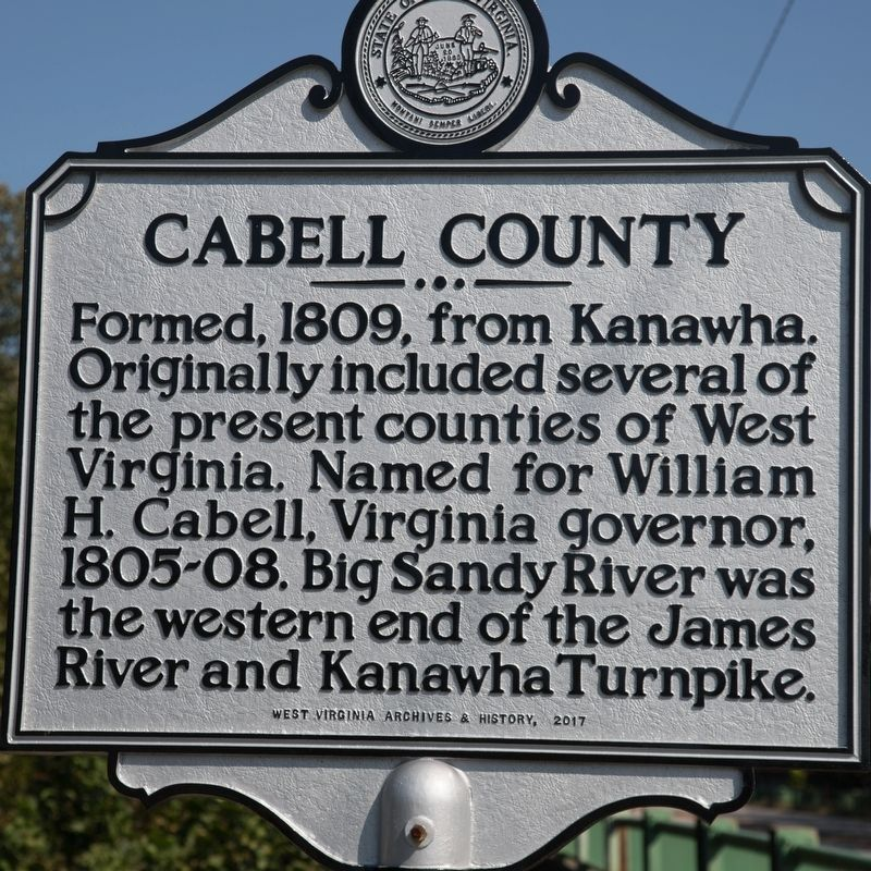 Cabell County side of marker image. Click for full size.