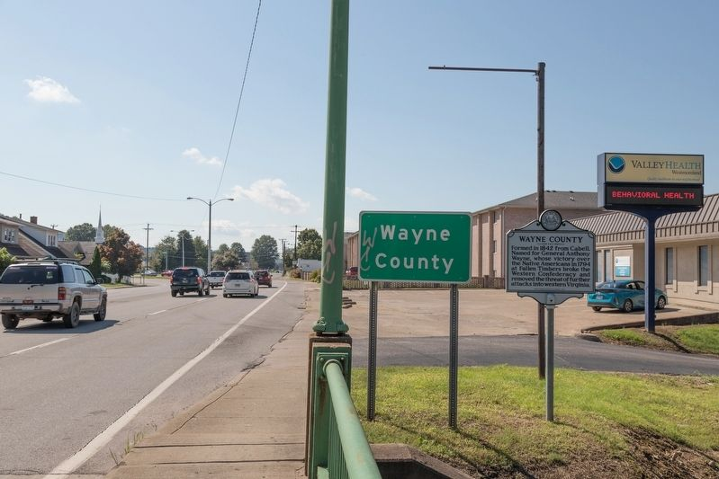 Wayne County / Cabell County Marker image. Click for full size.