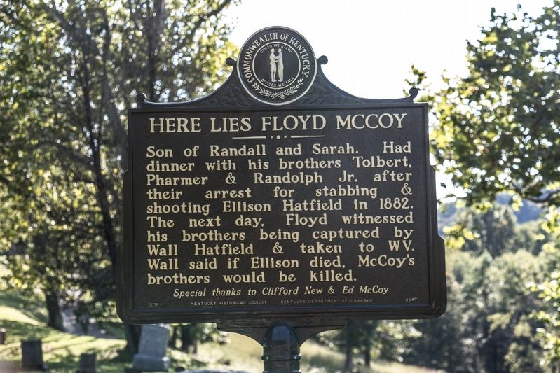 Here Lies Floyd McCoy side of marker image, Touch for more information