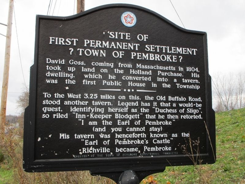 Site of First Permanent Settlement Marker image. Click for full size.