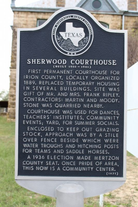 Sherwood Courthouse Marker image. Click for full size.