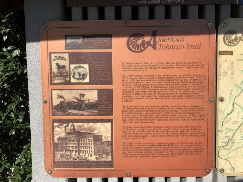 American Tobacco Trail Marker image. Click for full size.
