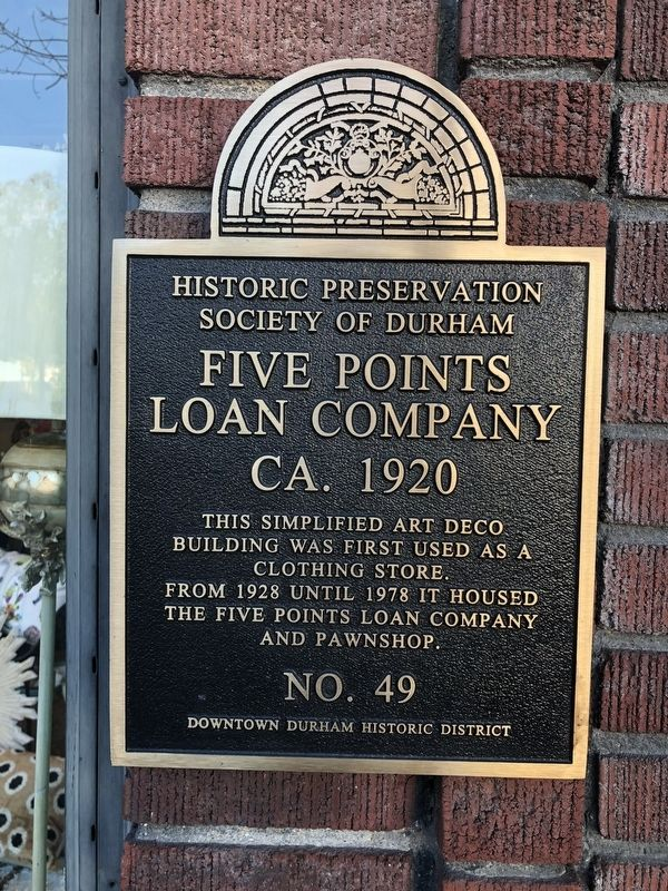 Five Points Loan Company Marker image. Click for full size.