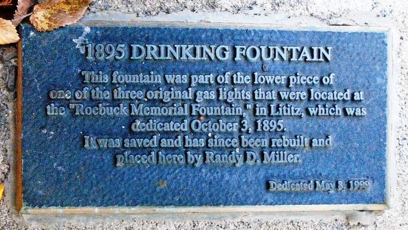 1895 Drinking Fountain Marker image. Click for full size.