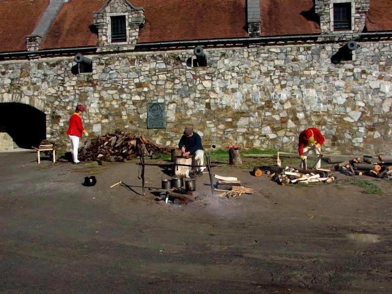 British Soldiers at Fort Ticonderoga image. Click for full size.