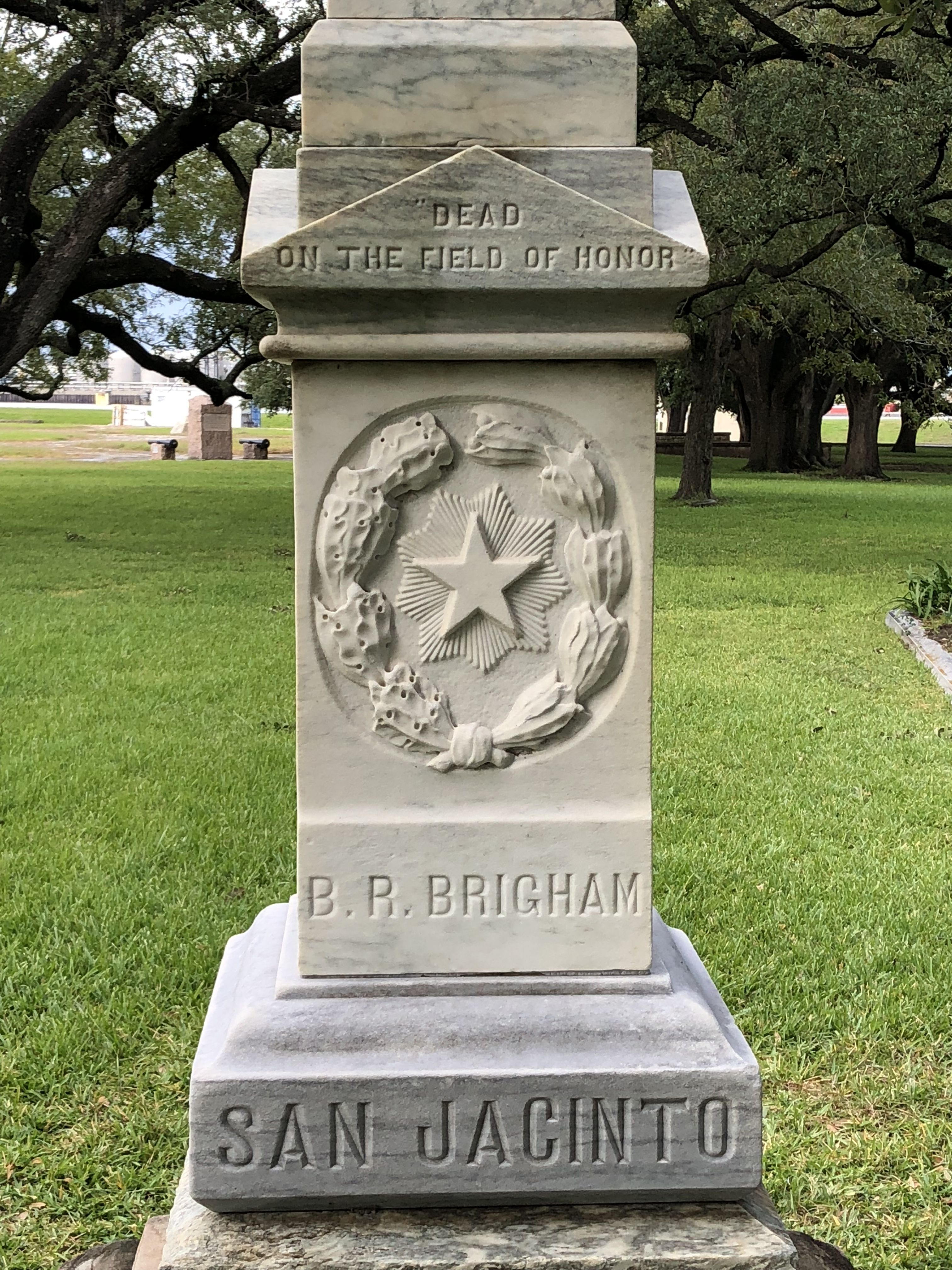 The B. R. Brigham Monument East Side