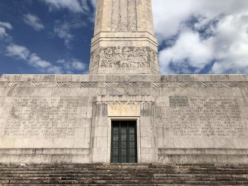 San Jacinto Monument South Facade image. Click for full size.