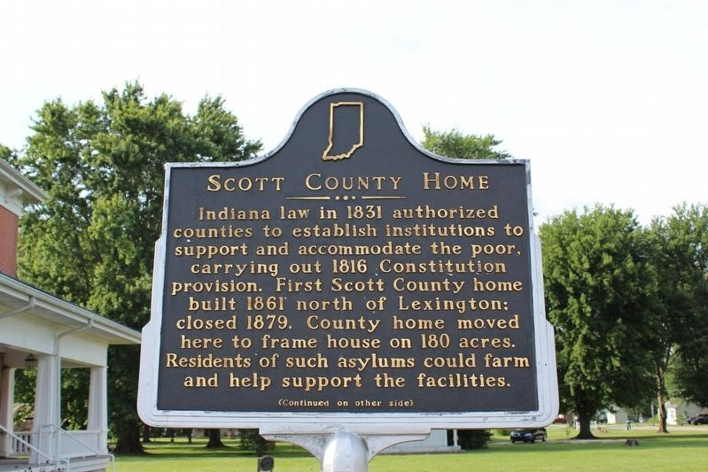 Scott County Home Marker (Side 1) image. Click for full size.